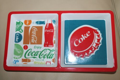 """Coca-Cola Coke Snack Tray  12/"""" x 6.3//4/"""" Serving dish Party plate New Enjoy"""