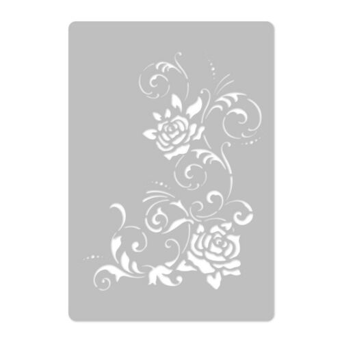 "FLOWERS #3 Reusable PLASTIC Wall STENCIL Template 17.7/""x24.6/"" or 24.6/""x37.4/"""