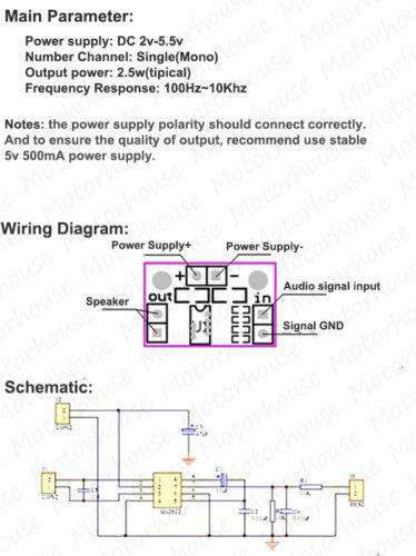 DC 3v 5v TDA2822M Micro Mini Audio Power Amplifier Board Mono Channel Module