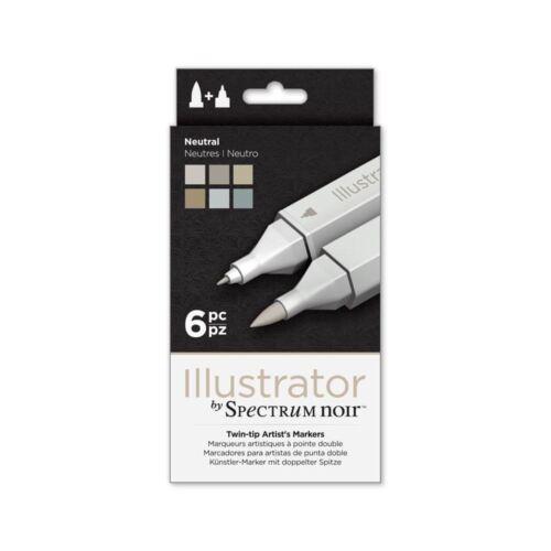 FULL ILLUSTRATOR RANGE! Spectrum Noir Alcohol Brush Marker Craft Pen Sets