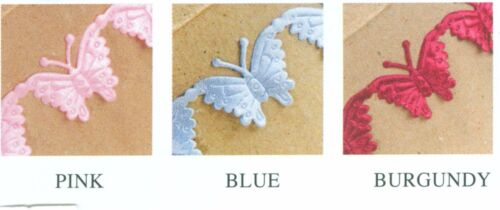Craft or Cake Decorating 12mm wide 2m Satin Butterfly Ribbon
