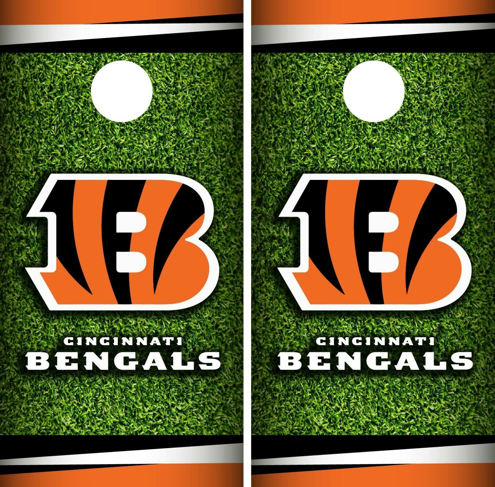 Cincinnati Bengals Field Cornhole Wrap NFL Skin Game Board Set Vinyl Decal CO51