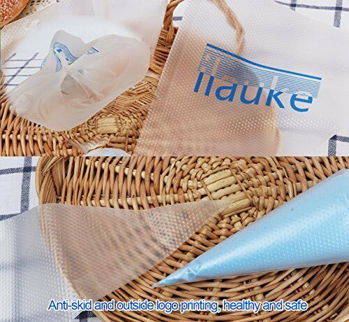 ilauke 100 Pack Thickened 15 inch Decorating Pastry Bags Disposable Icing Piping