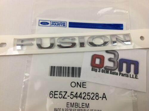 "Ford Fusion Rear trunk Chrome /""FUSION/"" Nameplate Emblem OEM 6E5Z-5442528-A new"