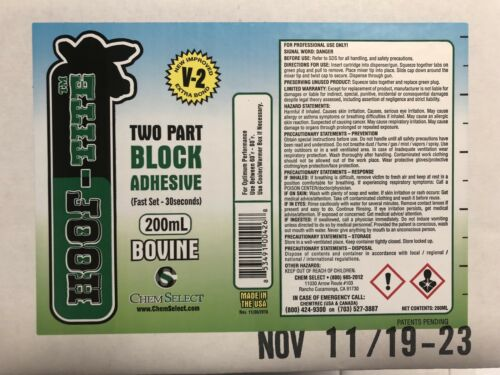 12 Hooftite Adhesive 200ML Sulzer Cartridges//Case Brand NEW!!