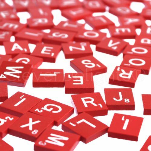 Game Crafts Weddings 300 Wood Scrabble Tiles 3 Complete Sets Red Color