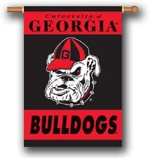 "NCAA University of Georgia UGA Bulldogs 2-SIDED 28"" by 40"" BANNER W/Pole Sleeve"