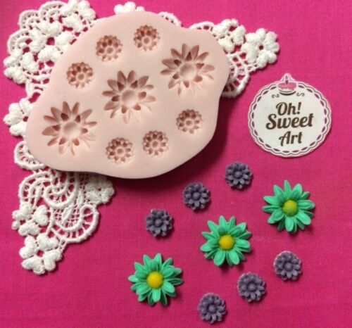 Daisy Flowers Flower  silicone mold fondant cake decorating wax soap cookies FDA