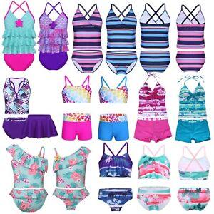 Toddler-Kids-Baby-Girls-Floral-Tankini-Swimwear-Swimsuit-Bikini-Set-Bathing-Suit