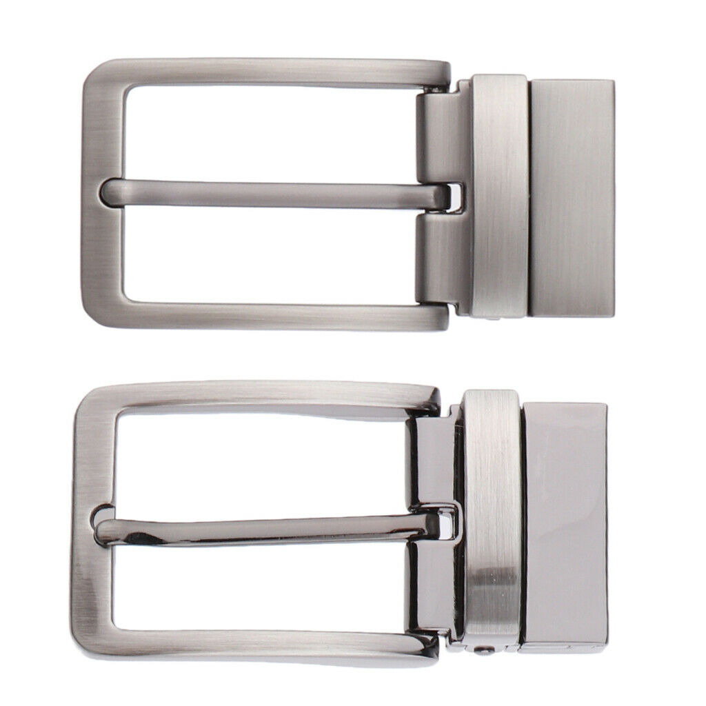 Polished Belt Buckle Rectangular Buckle Replacement for Leather Strap Silver