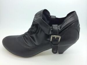 0ef731330bfd3 Ladies Boots No Shoes Baked Black Pull on Shoe Boot Size 6-10 ...