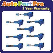UF373 UF374 Set 8PCS Ignition Coil Blue For 2003-2005 Honda Civic 1.3L Hybrid *