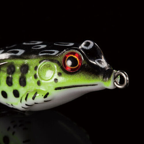 1PCS Cute Frog Topwater Fishing Lure Crankbait Hooks Bass Bait Tackle 7colors SL
