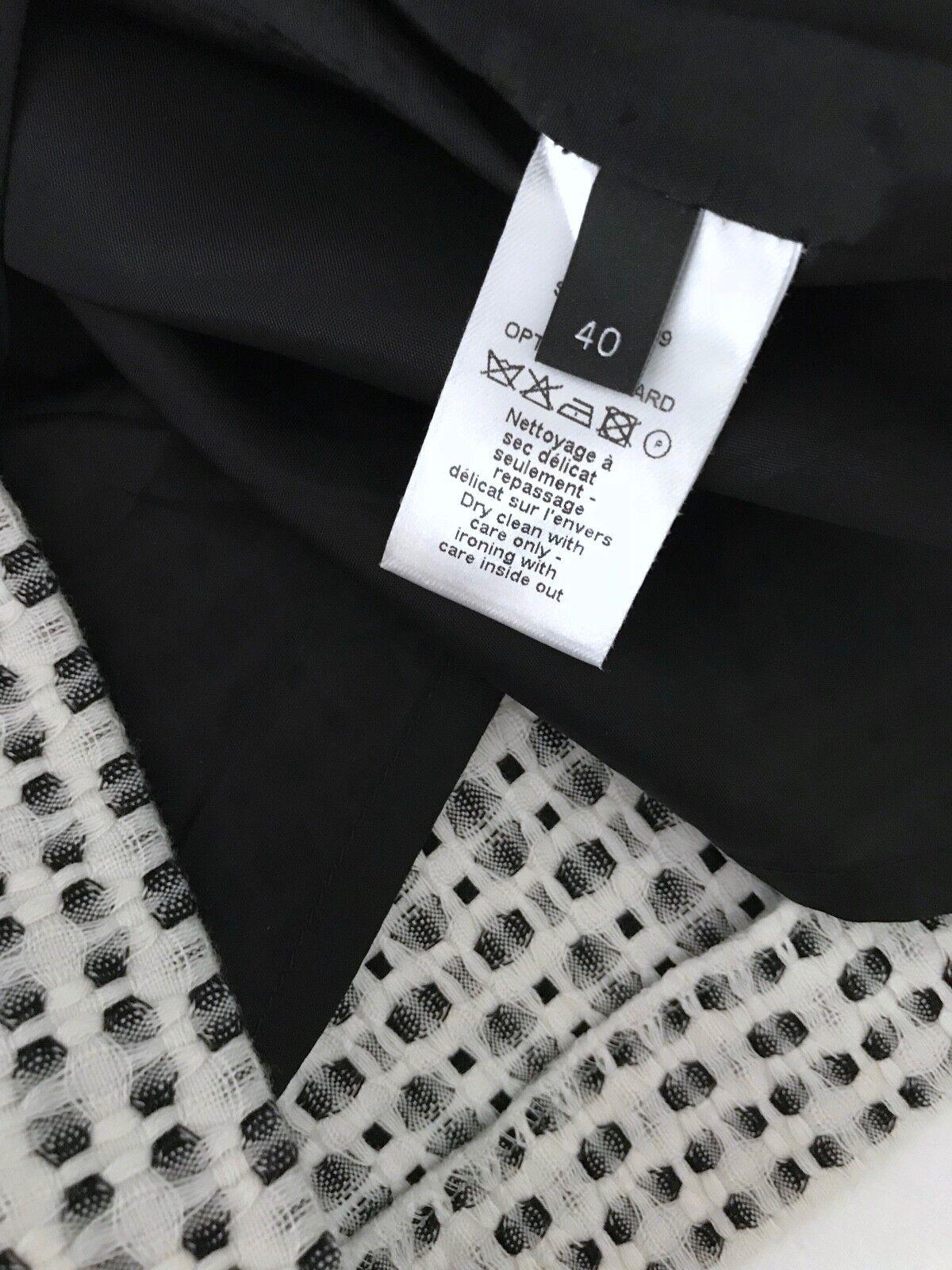 Joseph Minigonna Nero Bianco 38 38 38 40 SKIRT IRO nero bianca Jacquard Nikki S-M Top 84f8d1