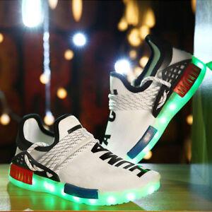 Unisex-Maedchen-Junge-Kinderschuhe-LED-Licht-Sneakers-Schuhe-Blinkschuhe-BC460