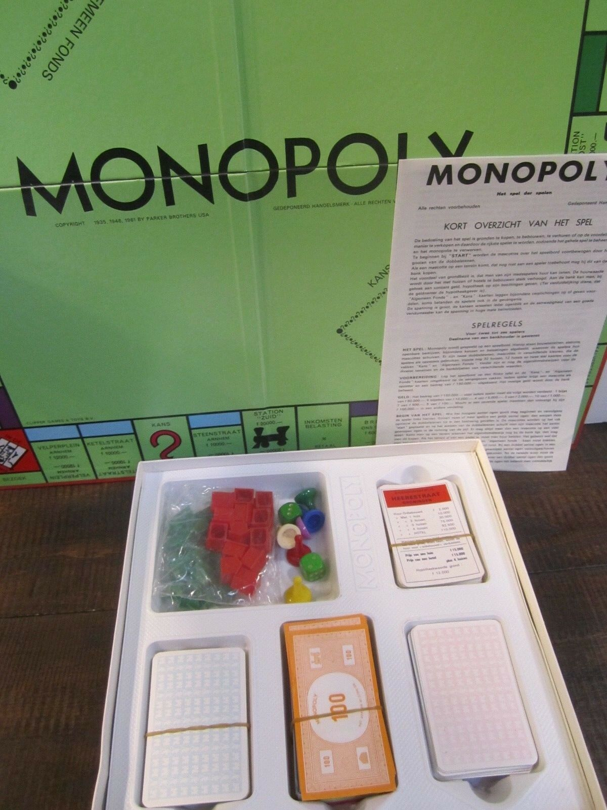 Monopoly Game Dutch Version  Clipper Games by License from Parker Bredhers