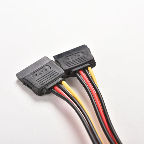 15 Pin SATA Male to SATA Female 1 to 2 Y Splitter Power Cable GNCA