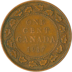 COIN-CANADA-1-CENT-1917-KING-GEORGE-V-WT5199