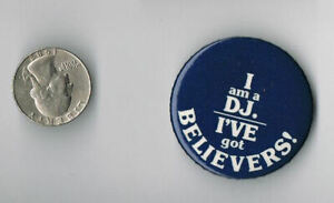 DAVID BOWIE Lodger LP Album I Am A DJ I've Got Believers PROMO PIN Button Badge