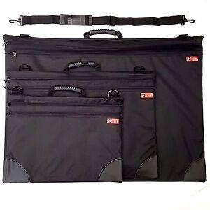 Jakar-Art-Folder-Case-Black-Portfolio-Water-Resistant-Double-Zip-Carry-Strap-Bag