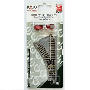 Kato-20-240-Unitrack-Compact-Aiguillage-G-Electric-Turnout-Left-R150-45-N