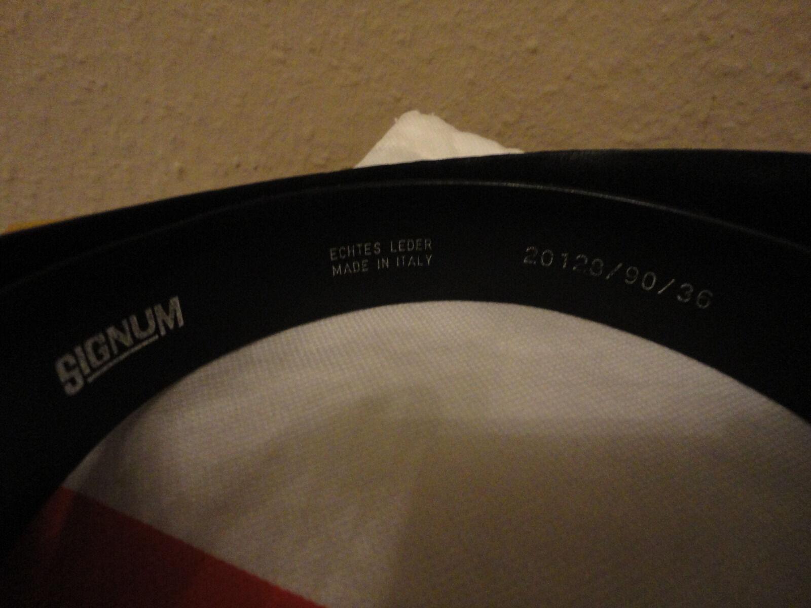 'Signum'' GÜRTEL, Echt Leder, Orig. Made in Italien. Herren Gr.90 NP 69,- TOP