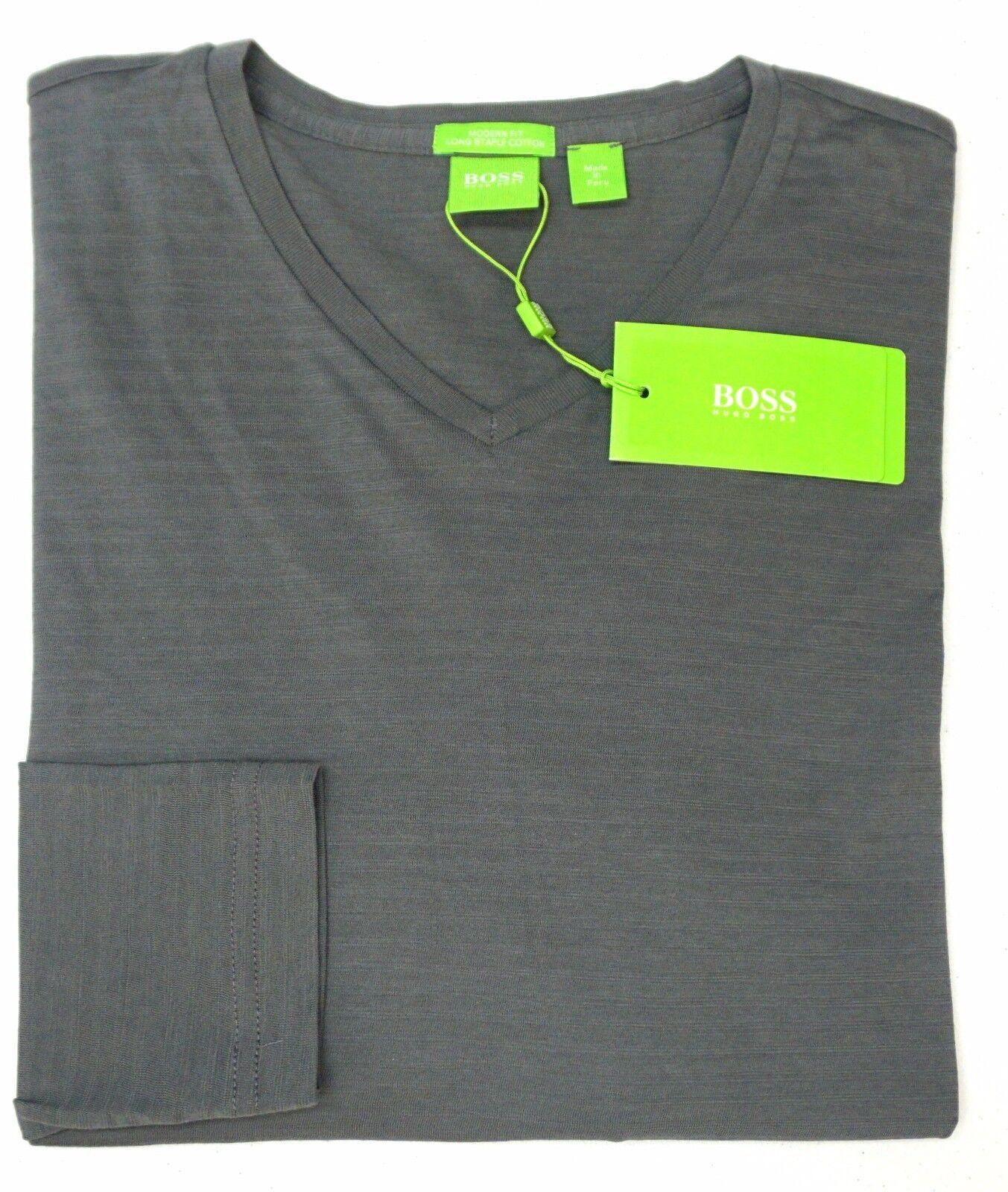 NWT 95 Hugo Boss grau Striped Shirt LS Modern Fit  Herren S M L XXL C-Vino NEW