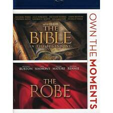 The Bible: In the Beginning/The Robe (Blu-ray, 2012, 2-Disc Set) NEW!