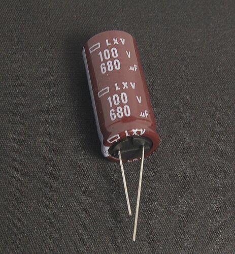 1x 680uf 100v Radial Electrolytic Capacitor 100v680uf NCC LXV