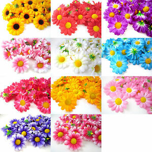 100pcs gerbera daisy heads 175 artificial silk flower wedding lot image is loading 100pcs gerbera daisy heads 1 75 034 artificial mightylinksfo