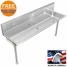 Industrial 3 Station Multiuser Wash Up Hand Sink 72 With Legs And Holes Only