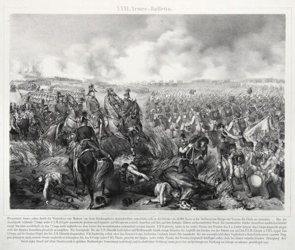 100% QualitäT Novara Piemont Schlacht 1849 Original Lithografie Katzler 1850