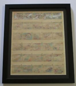 SERIES-OF-ABSTRACT-PAINTING-DRAWING-30-FRAMED-MINIATURE-MYSTERY-ARTIST-VINTAGE