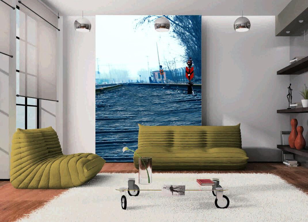 3D Chemin De Fer 99 Photo Papier Peint en Autocollant Murale Plafond Chambre Art