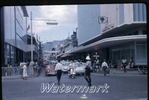 1965-kodachrome-photo-slide-Port-of-Spain-Trinidad-cars
