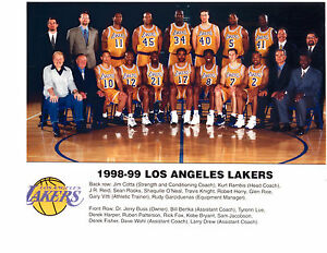 1998 1999 Los Angeles Lakers Team Photo Basketball O Neal Bryant Nba Ebay