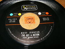 MARV JOHNSON - I'VE GOT A NOTION - HOW CAN WE TELL - LISTEN - SOUL RNB POPCORN