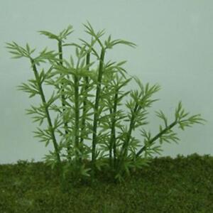 Lot-100Pcs-Modele-Bamboo-Arbres-En-Plastique-4-echelles-vert