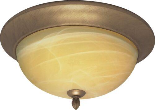 Flemish Gold And Gold Washed Gold Alabaster Glass Flush Ceiling Light