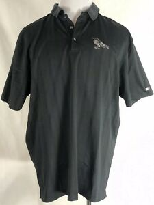 Tiger-Woods-Collection-Nike-Dri-Fit-Mens-XL-Polo-Golf-Shirt-Black