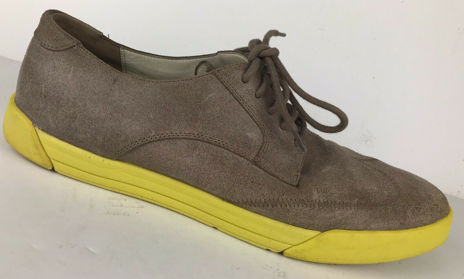 COLE HAAN Lace Up Wingtip Oxford Brown Yellow Sole C11409 Men SZ 13 M