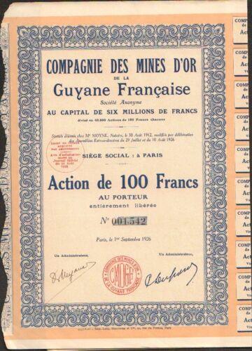 B Mines d/'OR de la GUYANE FRANÇAISE