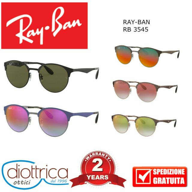 OCCHIALE DA SOLE RAY-BAN RB 3545 UOMO DONNA SPECCHIO POLARIZZATO 51 54 METALLO
