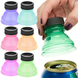6x-Reusable-Beverage-Can-Caps-Cover-Lids-Tops-Snap-On-Camping-Soda-Drink-Saver-R