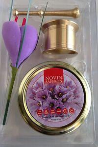 Safran Blumen Als Geschenck Einfach Zu Verwenden Kleine Safran Messing Mörser 3gr Safran Fäden