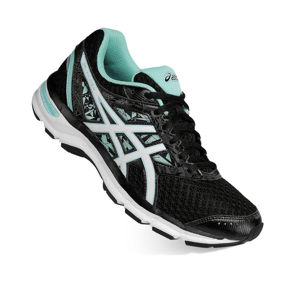 ASICS Women's GEL Excite 4 Black/White/Mint Running Shoes-Sizes 6.5/7/7.5/10 NWB