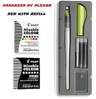 Pilot Parallel Pen 2-color Calligraphy Pen Set With Black And Assorted Colors In