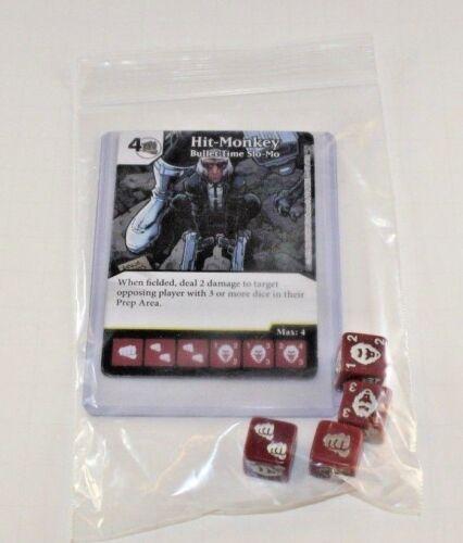 RARE Uncommon Set CUR 4 dice HIT-MONKEY Marvel Dice Masters Deadpool