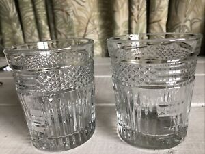 2-Libbey-Rock-Sharpe-RADIANT-Double-Old-Fashioned-Clear-Glass-Set
