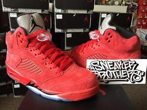 231c0b548029 Nike Air Jordan Retro V 5 University Red Suede Flight Suit 136027 ...